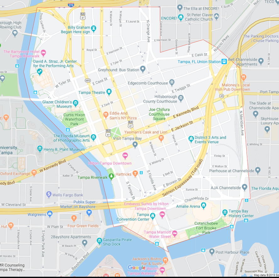 Downtown Tampa Computer Repair near me tampa map