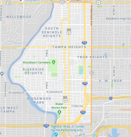 Tampa Heights Computer Repair near me tampa map