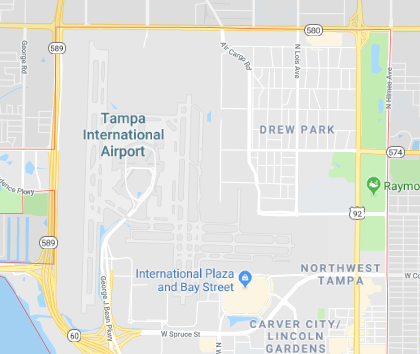 Tampa International Airport TIA Computer Repair near me tampa map